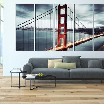Golden Gate Bridge Canvas Wall Art, San From Artcanvasshop On For Golden Gate Bridge Canvas Wall Art (Image 11 of 15)
