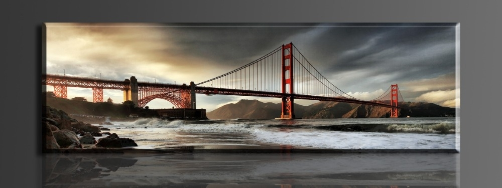 Golden Gate Bridge Https://walldecordeals/gold Gate Bridge 1 Throughout Golden Gate Bridge Canvas Wall Art (Image 12 of 15)