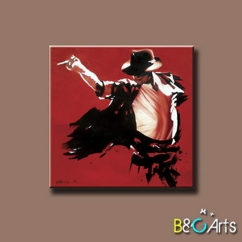 Good Quality Modern Stretched Printing Canvas Wall Art Of Michael Intended For Michael Jackson Canvas Wall Art (Image 5 of 15)