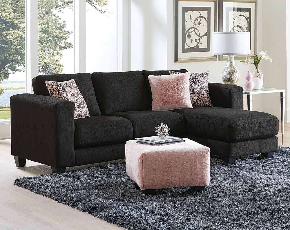 Goodfella Black Sectional Sofa | American Freight In Little Rock Ar Sectional Sofas (View 6 of 10)