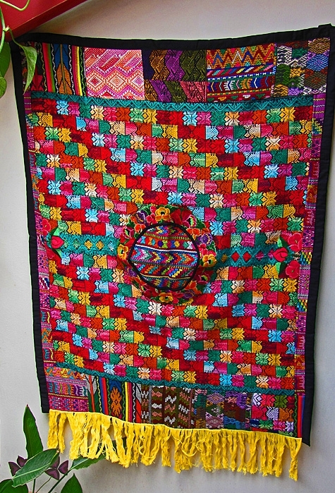 Gorgeous Guatemalan Fair Trade Mixed Huipile Tapestry Wall Hanging Throughout Handmade Textile Wall Art (Image 7 of 15)