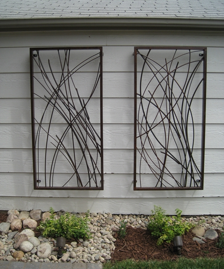 Gorgeous Outdoor Wall Art Derived From Sustainable Materials Inside Abstract Outdoor Metal Wall Art (Image 2 of 15)