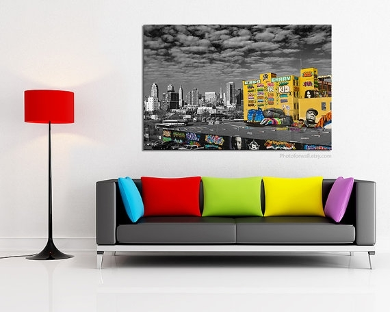 Graffiti Art Canvas/street Art/large Wall Art/large Canvas For Black And White Photography Canvas Wall Art (Image 7 of 15)