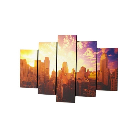 Graham & Brown 5 Piece Good Morning New York Photographic Print On For Canvas Wall Art At Wayfair (Image 6 of 15)