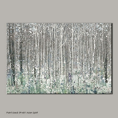 Graham & Brown Blue Watercolour Woods Canvas Wallart  At Debenhams Regarding Blue And Brown Canvas Wall Art (Image 8 of 15)
