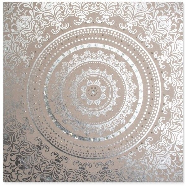 Graham & Brown Embellished Cocoon Fabric Canvas ($125) ❤ Liked On Throughout Fabric Panel Wall Art With Embellishments (Image 9 of 15)