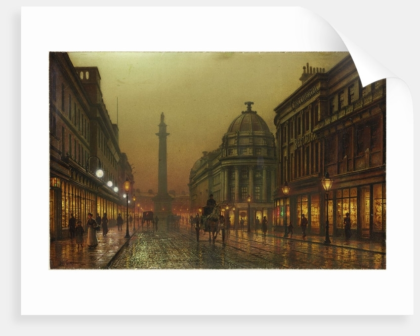 Grainger Street, Newcastle Upon Tyne Posters & Printslouis H Within Newcastle Canvas Wall Art (View 8 of 15)