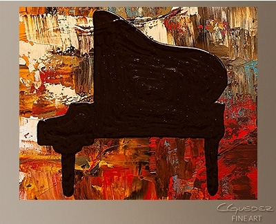 Grand Piano – Abstract Painting On Canvas – Music Abstract Art For Pertaining To Abstract Piano Wall Art (Image 7 of 15)
