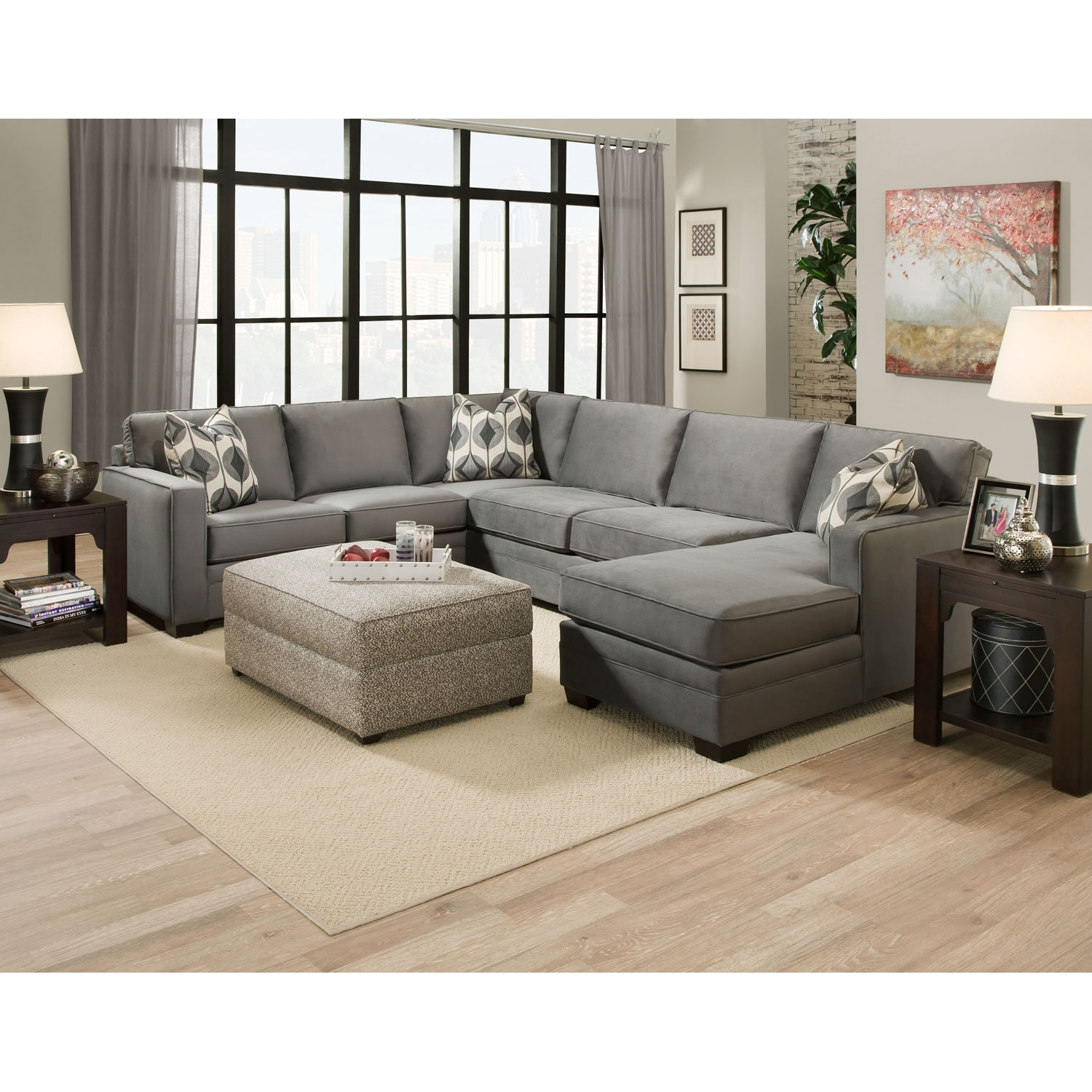 Gray Extra Large U Shaped Sectional Sofa With Chaise And Accent Within Extra Large U Shaped Sectionals (View 5 of 10)