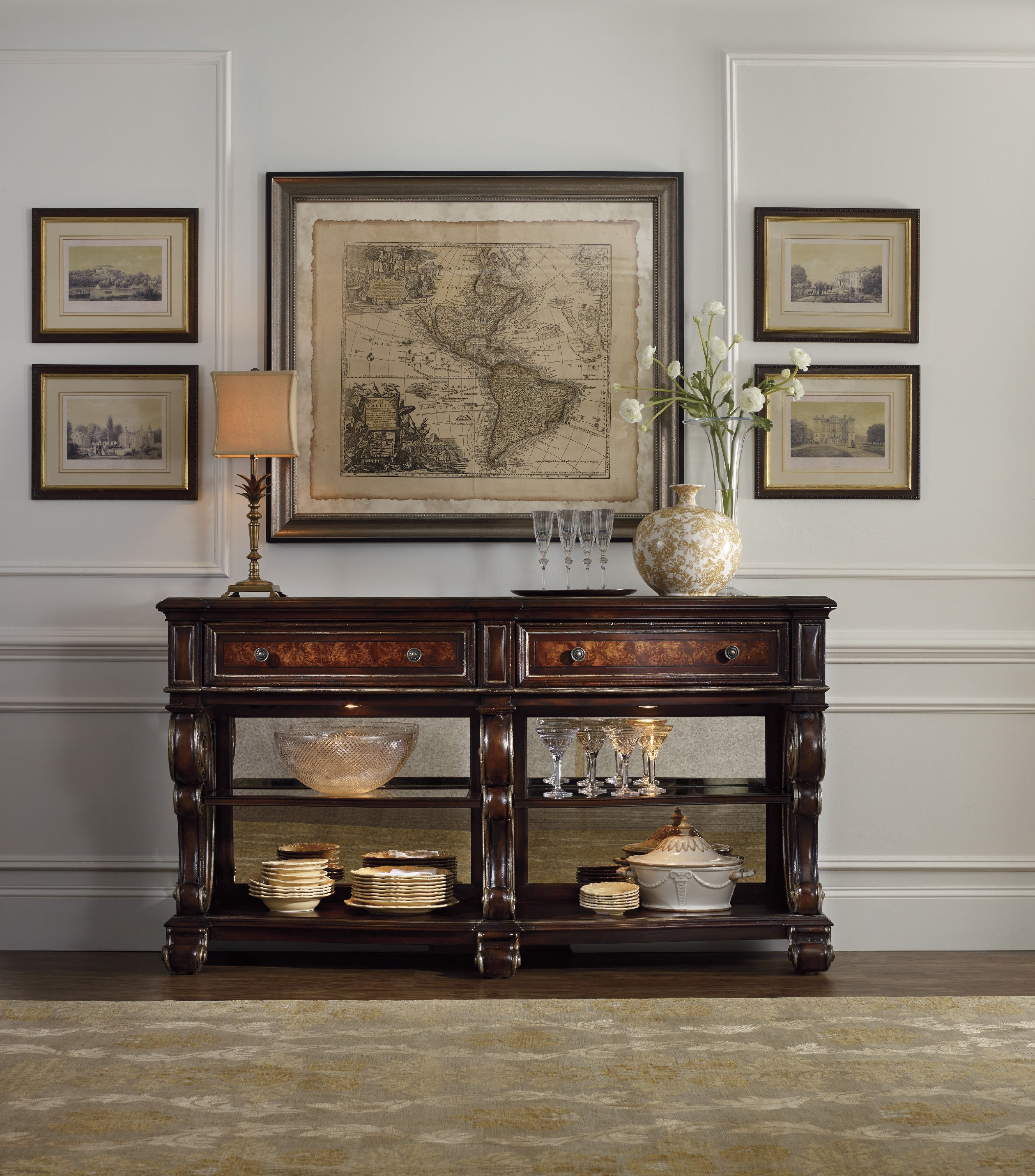Great Prices Hooker Console Table Console Table Design Hooker With Regard To Sofas With Back Consoles (Image 2 of 10)