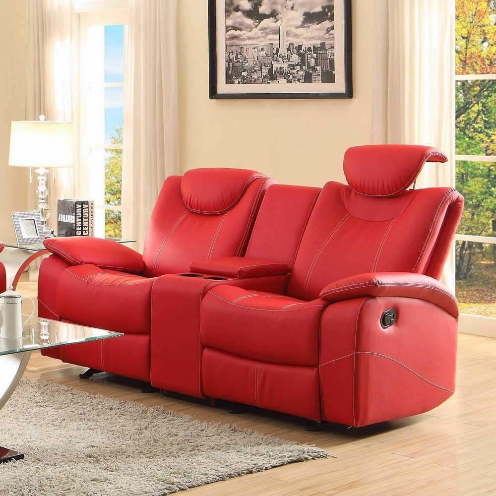 Featured Photo of Red Leather Reclining Sofas And Loveseats