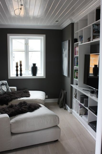 Great Small Space – Light Floors, White Shelving And Ceiling With With Regard To Wall Accents For Narrow Room (View 2 of 15)