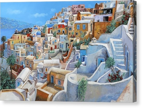 Greece Canvas Prints | Fine Art America With Greece Canvas Wall Art (View 9 of 15)