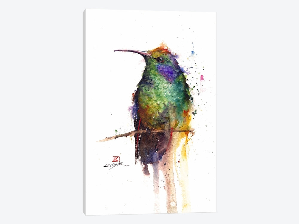 Green Bird Canvas Wall Artdean Crouser | Icanvas With Regard To Birds Canvas Wall Art (Image 9 of 15)