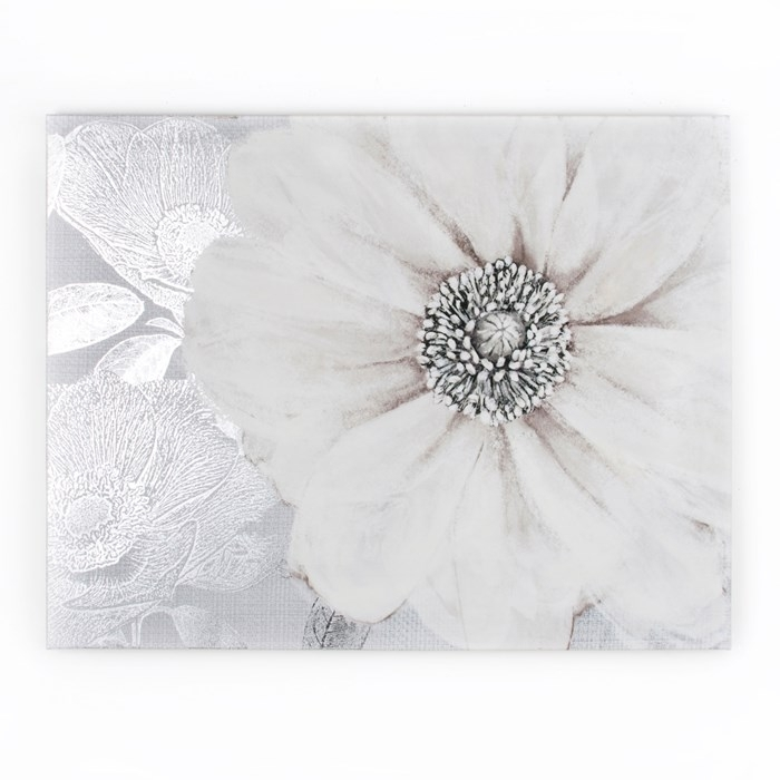 Grey Bloom Printed Canvas Wall Artgraham And Brown | House Within Embellished Canvas Wall Art (Image 8 of 15)