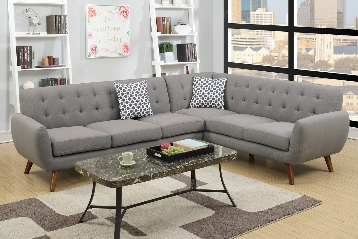 Grey Fabric Sectional Sofa – Steal A Sofa Furniture Outlet Los Within Fabric Sectional Sofas (View 1 of 10)