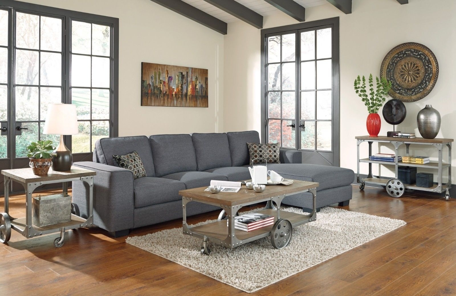 Grey Sectional Living Room Ideas Best Of Rustic Modern Living Room Within Sectional Sofas Decorating (View 3 of 10)