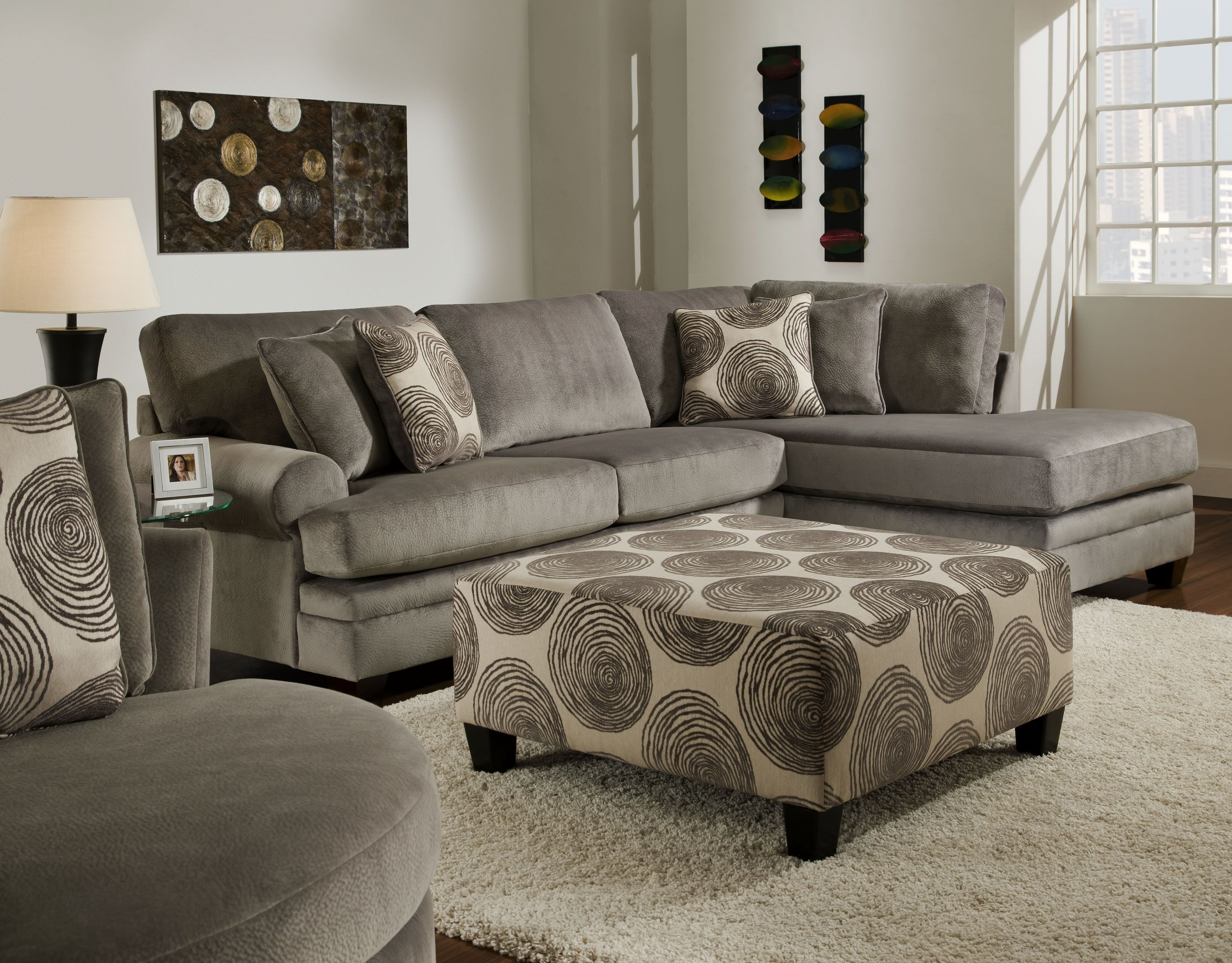Groovy Champion Grey Sectional 2 Pc $1,195 @ Cornerstone Furniture Throughout Las Vegas Sectional Sofas (View 8 of 10)