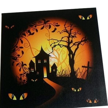 Halloween Led Canvas Light Up Frames Photo Wall Art,led Framed Art With Halloween Led Canvas Wall Art (View 7 of 15)