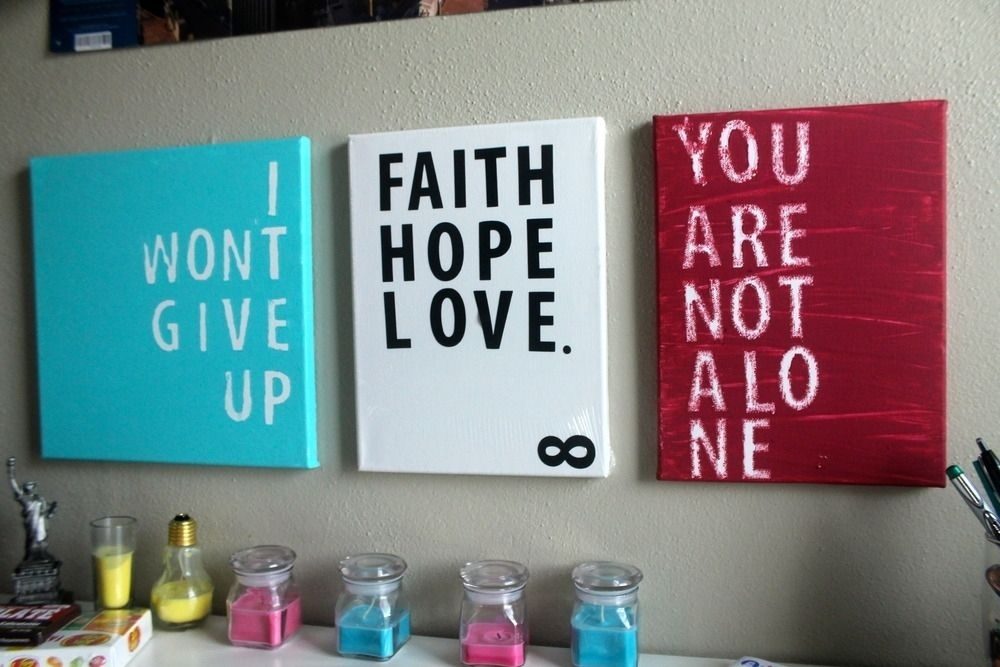 Hand Crafted Inspiration Quote Canvas Printsinfinite Pertaining To Inspirational Quote Canvas Wall Art (View 11 of 15)
