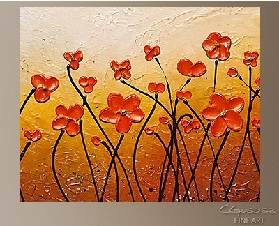 Hand Made Abstract Art For Sale – Garden Party – Buy Cheap Throughout Abstract Garden Wall Art (View 15 of 15)