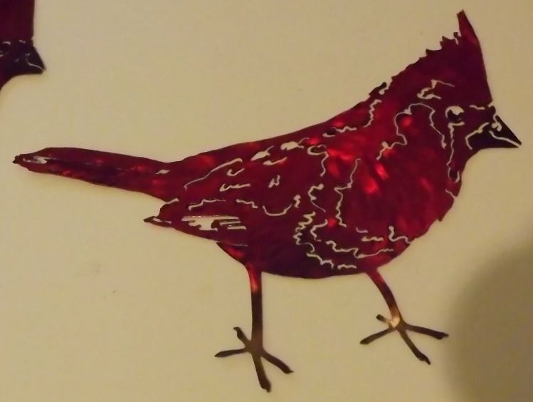 Hand Made Cardinal Metal Wall Art Sculpturesuperior Iron Artz With Regard To Abstract Jazz Band Wall Art (View 13 of 15)