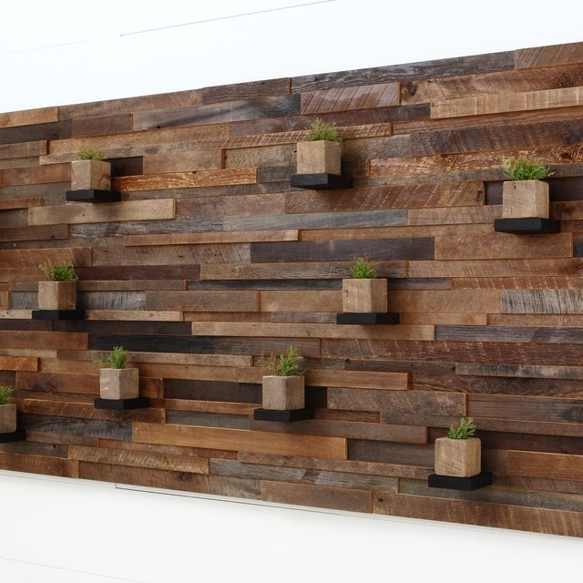 Hand Made Wood Wall Art With Floating Wood Shelves 84 Regarding Wooden Wall Accents (Image 5 of 15)