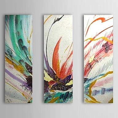 Hand Painted Abstractmodern Traditional Three Panels Canvas Oil Regarding Ottawa Abstract Wall Art (View 15 of 15)