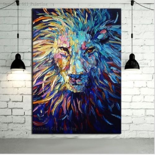 Featured Image of Abstract Lion Wall Art