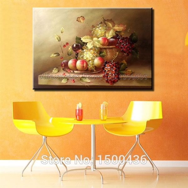 Hand Painted Modern Abstract Oil Painting Tree Of Life Canvas Wall Intended For Abstract Kitchen Wall Art (Image 9 of 15)