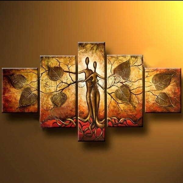 Hand Painted Outdoor Pure Fresh Home Decoration Large Canvas Art Within India Abstract Wall Art (View 9 of 15)