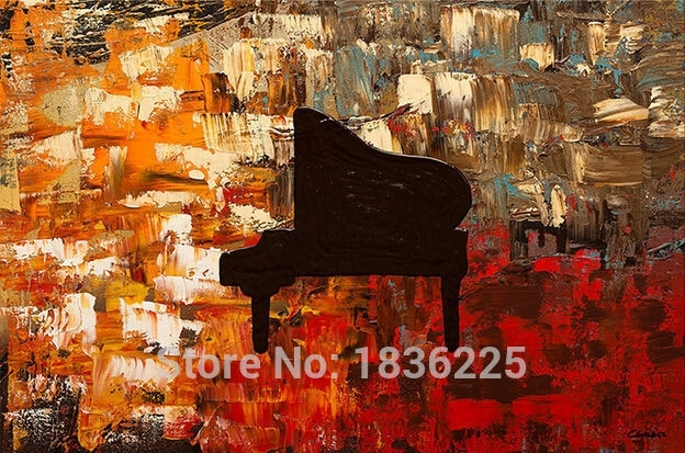 Hand Painted Wall Art Abstract Piano Oil Painting Abstract Oil With Regard To Abstract Piano Wall Art (Image 9 of 15)