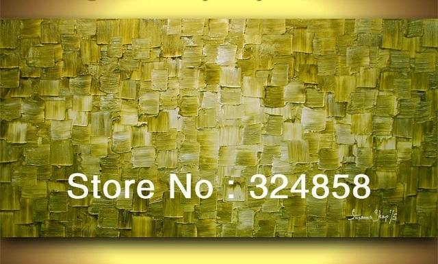 Handmade Abstract Art Olive Green Abstract Oil Painting On Throughout Olive Green Abstract Wall Art (View 6 of 15)