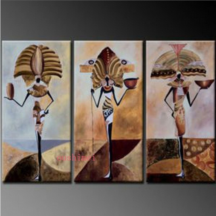 Handmade Abstract Egypt Character Oil Painting On Canvas Wall Throughout Egyptian Canvas Wall Art (View 3 of 15)