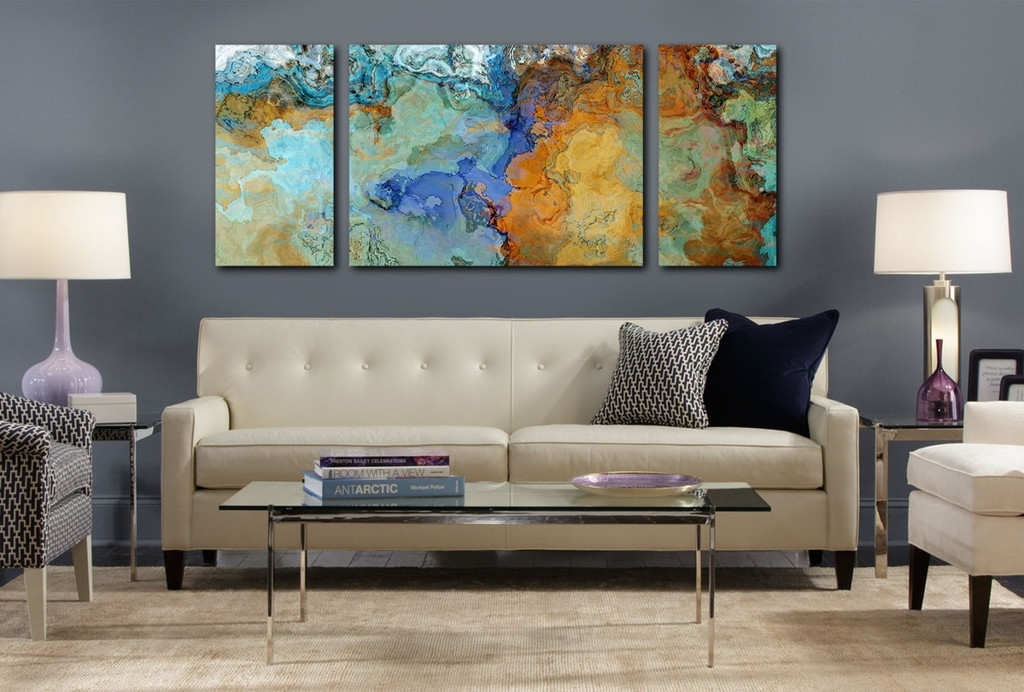 Handmade Extra Large Contemporary Painting Huge Abstract Canvas Regarding Large Abstract Canvas Wall Art (Image 8 of 15)