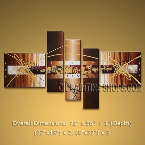 Handmade Huge Multiple Panels Wall Art For Living Room Modern With Abstract Wall Art Living Room (View 13 of 15)