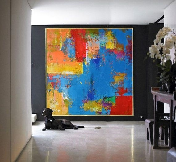 Handmade Large Painting, Original Art, Large Canvas Art For Giant Abstract Wall Art (Image 6 of 15)