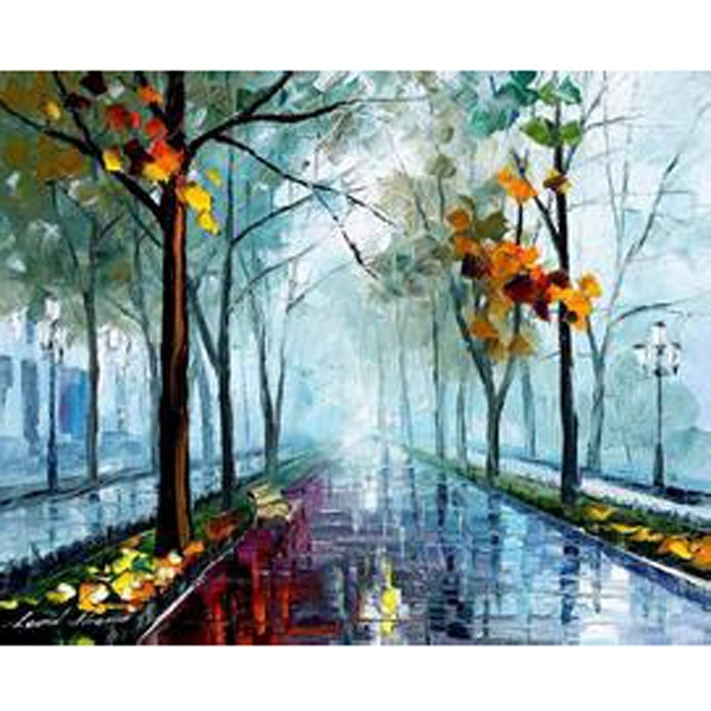 Handmade Modern Abstract Oil Painting On Canvas Landscape Nature Within Abstract Nature Wall Art (View 15 of 15)