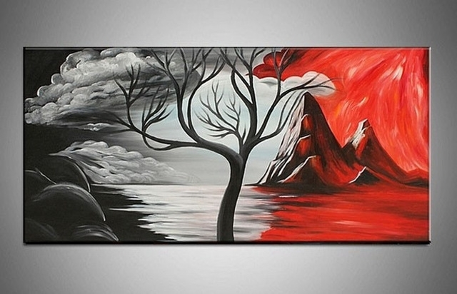 Handpainted Beautiful Modern Abstract Decorative Oil Painting Within Modern Abstract Oil Painting Wall Art (Image 10 of 15)