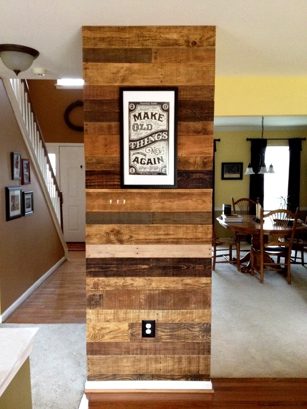 Hardwood Accents, Pallet Accent Wall On Diy Wood Wall Pallet In Wood Pallets Wall Accents (Image 5 of 15)