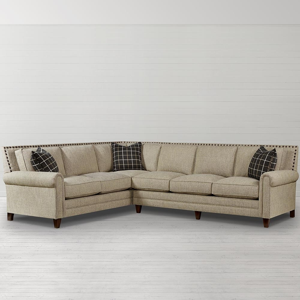 Harlan Large L Shaped Sectional | Living Room | Bassett Furniture Inside Sectional Sofas At Bassett (View 8 of 10)