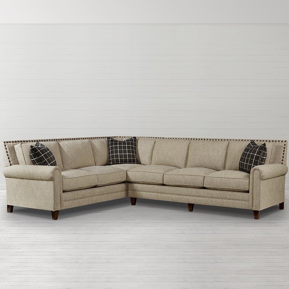 Harlan Large L Shaped Sectional | Living Room | Bassett Furniture Inside Sectional Sofas At Bassett (Image 5 of 10)