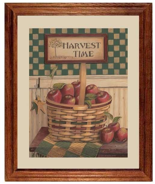 Harvest Time Applelinda Lane - Framed Art Print At regarding Framed Country Art Prints