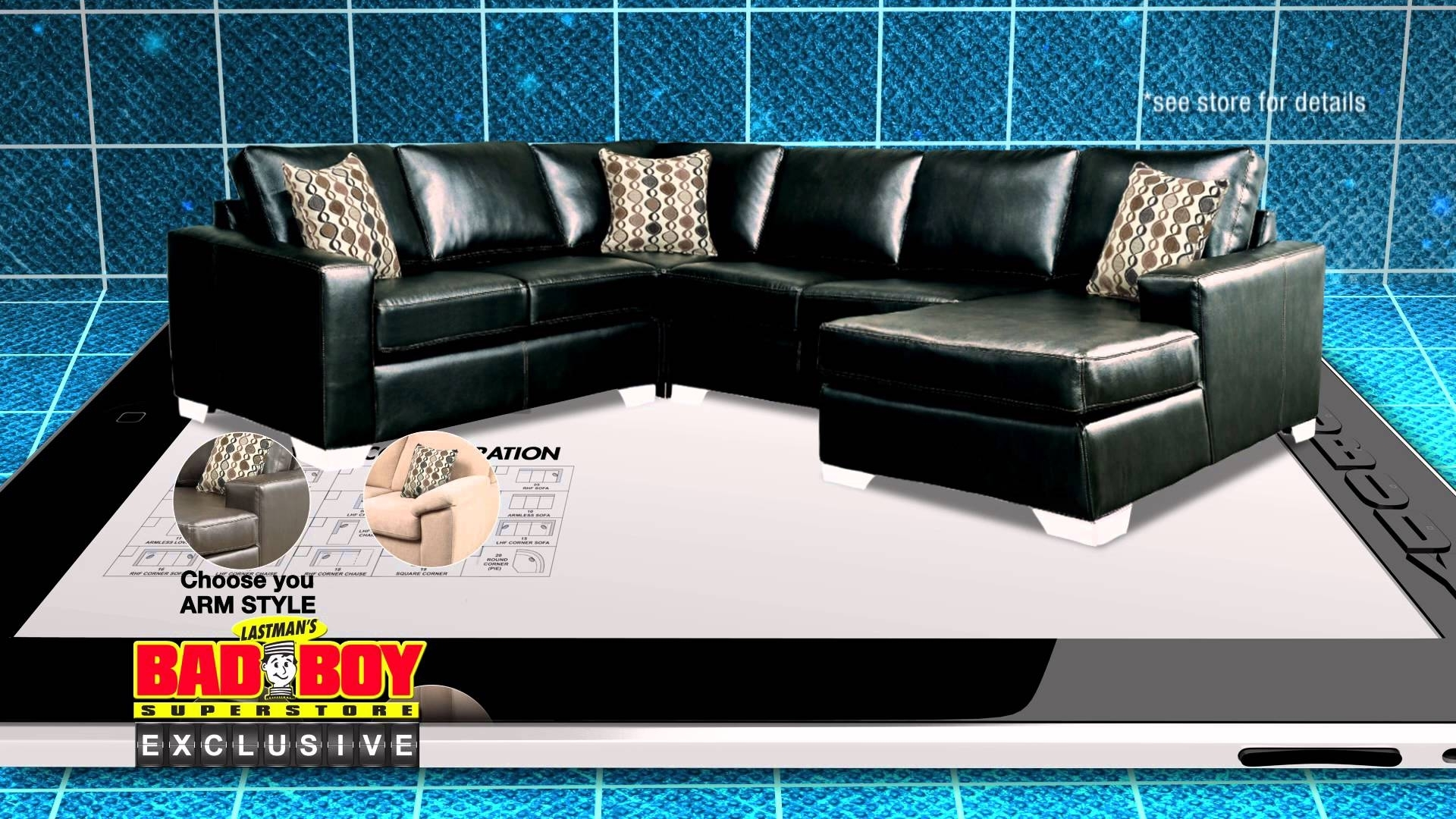 Have It Your Way, Customize Your Sofa At Lastman's Bad Boy – Youtube Within Sectional Sofas At Bad Boy (Image 9 of 10)
