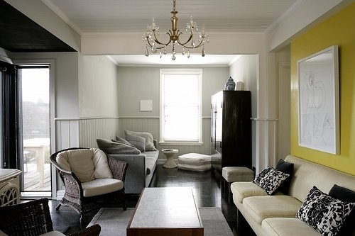 Have You Painted An Accent Wall | Light Gray Walls, Living Room With Wall Accents With Paint (Image 9 of 15)
