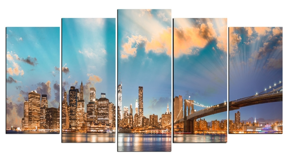 Hd Large Canvas 5 Panels Home Decor Wall Art Painting Prints Of Intended For Houston Canvas Wall Art (View 14 of 15)