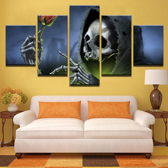 Hd Printed Pictures Bedroom Canvas Wall Art Unframed 5 Pieces Pertaining To Bedroom Canvas Wall Art (View 16 of 32)