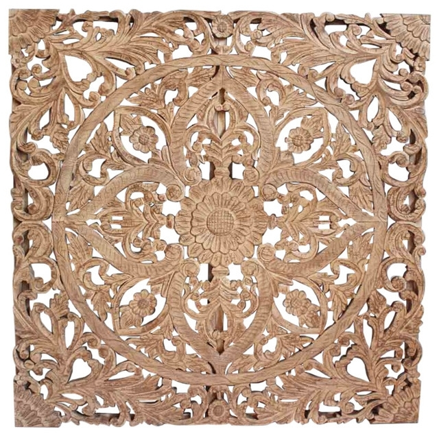 Headboard Carved Panel – Asian – Wall Accents  Design Mix Intended For Asian Wall Accents (Image 11 of 15)