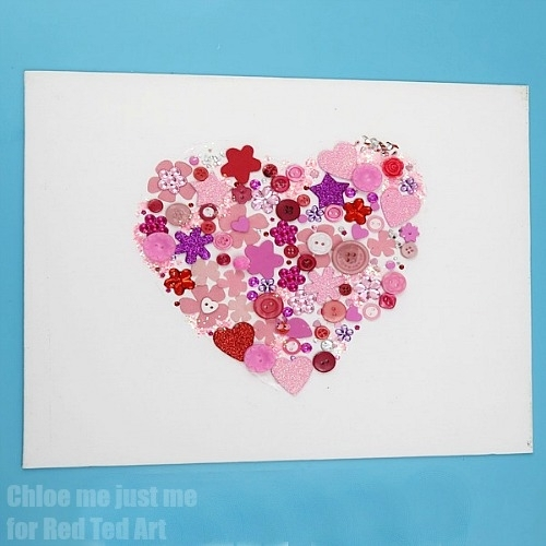 Heart Wall Art For Kids – Red Ted Art's Blog In Hearts Canvas Wall Art (Image 7 of 15)