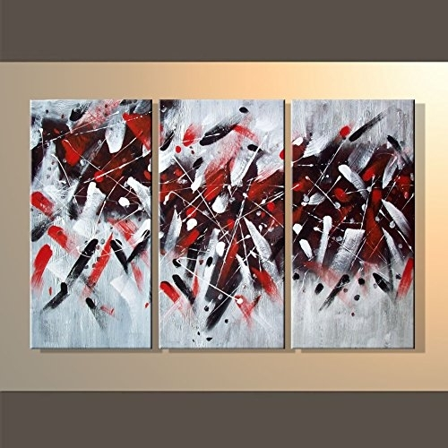 Hegifts – Rain Queen Abstract Red Black White Graffiti Oil With Regard To Graffiti Canvas Wall Art (View 10 of 15)